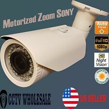 HD-CVI 1080p 2.4MP Motorized Zoom AF 2.8-12mm VF Bullet Camera Sony CMOS-WHITE