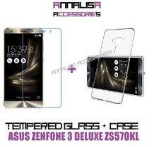 KIT COVER + PELLICOLA IN VETRO TEMPERATO GLASS PER ASUS ZENFONE 3 DELUXE ZS570KL