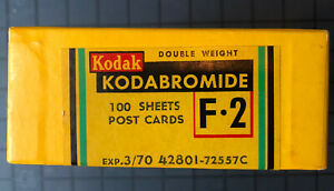 Kodak Kodabromide F Post Card Size, UNOPENED, Double Weight 1970.