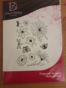 Dawn Bibby Designs A6 Stamp Set - Fragrant Blooms Midsummer - NEW