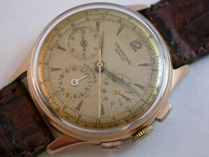 Selterner Universal Compax Chrono Kal. 283 Gold 750