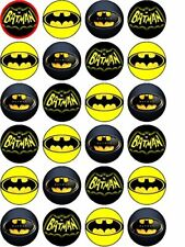 24  Batman Cupcake Toppers Edible Wafer Paper Image Print Birthday Gift Cake