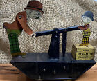 Vintage 1930s Marx Moon Mullins & Kayo Handcar Deluxe Tin Wind Up Toy Working