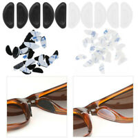 20 Pair Silicone Anti-Slip Adhesive Nose Pads Grips Gaskets for Glasses Eyeglass