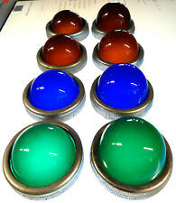 8 Glass Light Lens Amber Green Blue Warning Panel Vintage Old Classic Retro Bee