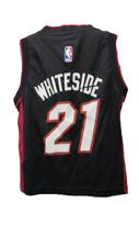 New-Minor-Flaw Hassan Whiteside #21 Miami Heat #1 Kids Size 4 S Small Jersey