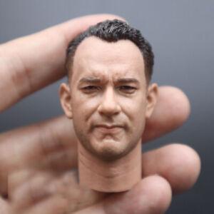 1/6 Scale Tom Hanks Head Sculpt Model Carving Fit 12'' Soldier Action Figure