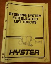 Hyster Steering System For Electric Lift Trucks Manual Part No.897450