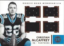 2017 Panini Encased Rookie Quad Memorabilia #2 Christian McCaffrey Jersey /49