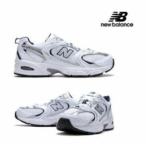 New Balance 530 Retro White Silver Navy Running Shoes MR530SG Men's
