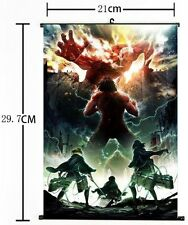 HOT Japan Anime Cosplay Attack on Titan Home Decor Wall Scroll Poster 8