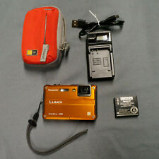 Panasonic LUMIX DMC-TS2/DMC-FT2 14.1MP Digital Camera - Orange, w/ accessories