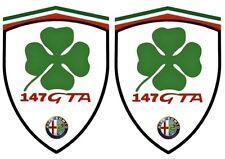 2 stickers adhésifs ALFA ROMEO Q4 147 GTA  (idéal pour aile avant)