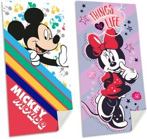 Official Disney Mickey Mouse & Minnie Mouse Bath Swim Beach Towel 70 x 140 cm