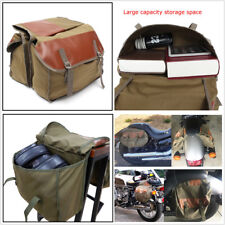 Motorcycle Bike Canvas Saddle Bag Travel Knight Rider Bag Large Capacity Durable
