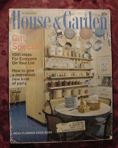 RARE House & and Garden NOVEMBER 1963 Architecture Decoration Design Gardening