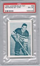1952 Juniors Blue Tint Hockey Card Three-Rivers Reds Raymond St.Cyr Graded PSA 6