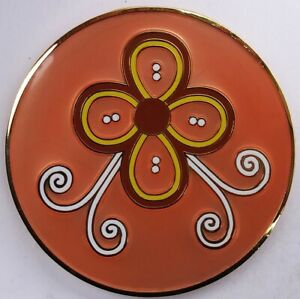 Wildflowers METAL PIN Orange n GOLD Tom Petty and the Heartbreakers Band Rare