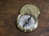 Brass screw top compass