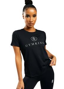 Gym King Women's T-Shirt Fashion Casual Sportstyle Black Pro Logo New Clothing