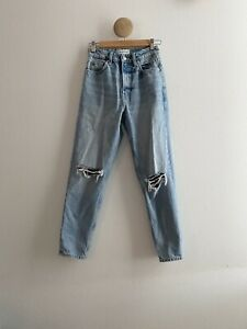 ZARA Ripped Mom Fit Jeans TRF Size 2