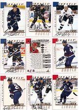 1997-98 Pinnacle BAP Be A Player Signature Vancouver Canucks Team Set (9)