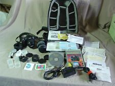 Nikon D50 Digital Camera 2 Lenses LowePro Back Pack Carry Case + Accessories