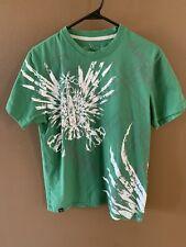 Marc Ecko Cut & Sew Green Graphic T-shirt Mens Medium Scissors Design