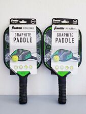Franklin Pickleball Graphite Paddle Racquet Honeycomb Construction Set Of 2 New