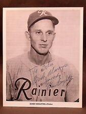 c.1956 autograph ELMER SINGLETON Seattle Rainiers Popcorn Card premium 8x10 PCL