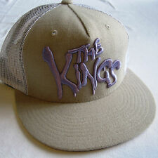 King Apparel 'The Kings' Beige White Purple Snapback Cap Unworn