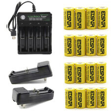 2800mAh 16340 Batteries CR123A 16340 Rechargeable Li-ion Battery Smart Charger