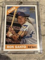 2003 Topps Archives On Card Autograph Issue Ron Santo Chicago Cubs HOF