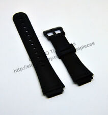 Compatible Casio AW-37 , AW-38 , AW-39  Rubber Black Watch Band - Strap