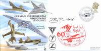 CC69b WWII WW2 German Experimental Jet flown RAF cover signed artist THEOBALD