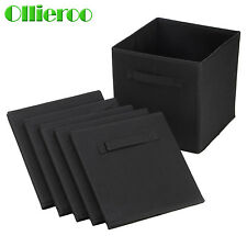 6pcs Storage Bin Closet Toy Box Container Organizer Home Fabric Cube Basket