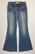 Baby Phat Womens Jeans Blue Denim Flare Cut Light Wash Size 5 Inseam 32""