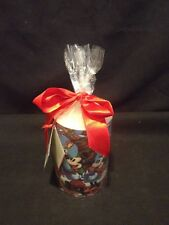 Mickey Mouse Season of Song The Disney Store Christmas Pillar Candle 4 1/2 in