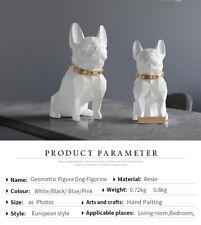 Dog Statue Crafts Animal Resin Sculpture Figurine Pitbull art  home ornaments