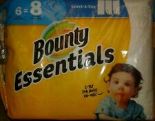 BOUNTY SELECT•A•SIZE - PAPER TOWELS - 6 ROLLS = 8 ROLLS - SHIPS 2-4 DAY PRIORITY