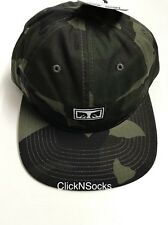 OBEY OVERTHROW CAMOUFLAGE MENS WOMENS SNAPBACK HAT