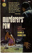 HAMILTON, Donald - MURDERERS' ROW  GM s1246, 1962 PBO.