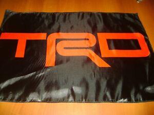 "TRD Logo 20x30"" Flag Banner Garage Vintage Deco Land Cruiser Toyota TRD Racing"