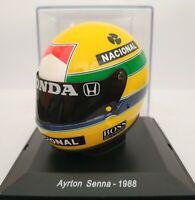 1/5 CASCO AYRTON SENNA 1988 HELMET COLECCION F1 FORMULA 1 A ESCALA