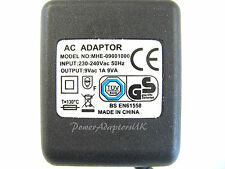 ALESIS MICROVERB 2 II 1A 9V AC/AC OUTPUT MAINS POWER ADAPTOR/SUPPLY/PSU