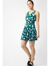Select HS Tropical Print Skater Dress Sizes 10, 14 & 16 Uk BNWT RRP £16.98