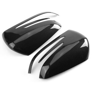 Carbon Fiber Side Mirror Cover Caps For Mercedes X204 W212 W176 W246 W204 C117