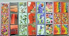 25 Strips of 3 Toppers Uncut in Various Designs - Each Image is 68mm x 49mm NEW