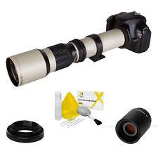 Vivitar 500mm/1000mm F8 Pre Tele Lens White for Canon T5i T4i T3i T3 T2i T1i SL1