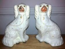 Pair of Large Antique Victorian 19th Century Staffordshire Dogs